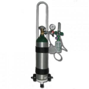 Conjunto de Cilindro de Oxigênio Portátil em Alumínio